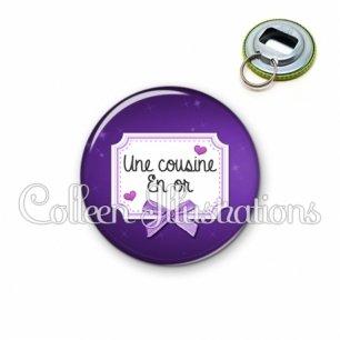 Décapsuleur 56mm Cousine en or (023VIO02)