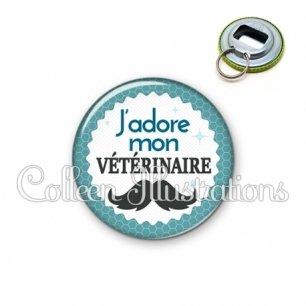 Décapsuleur 56mm J'adore mon vétérinaire (028BLE04)