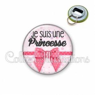 Décapsuleur 56mm Je suis une princesse (029ROS01)
