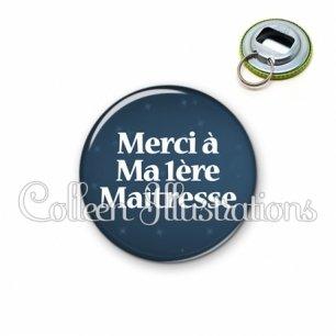Décapsuleur 56mm Merci maîtresse (083BLE04)