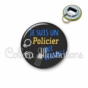 Décapsuleur 56mm Policier qui déchire (167GRI01)
