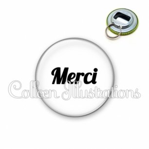 Décapsuleur 56mm Merci (181BLA11)