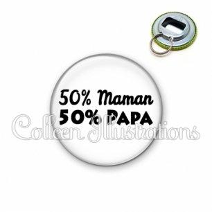 Décapsuleur 56mm 50% maman 50% papa (181BLA11)