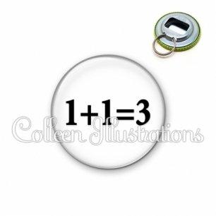 Décapsuleur 56mm 1 plus 1 égal 3 (181BLA11)