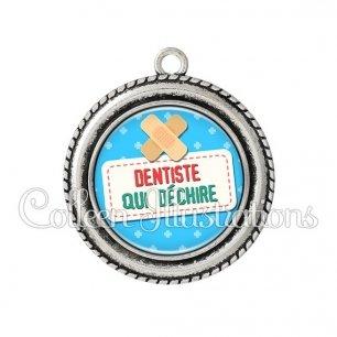 Pendentif résine Dentiste qui déchire (003BLE02)
