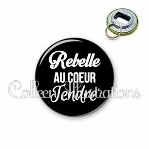 Décapsuleur 56mm Rebelle au cœur tendre (181NOI09)