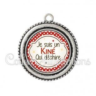 Pendentif résine Kiné qui déchire (011ROU01)