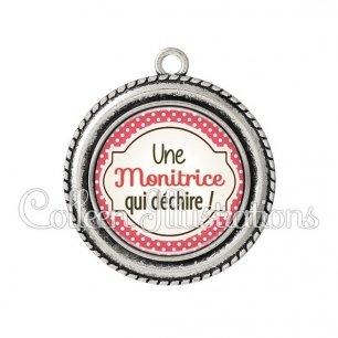 Pendentif résine Monitrice qui déchire (011ROU02)