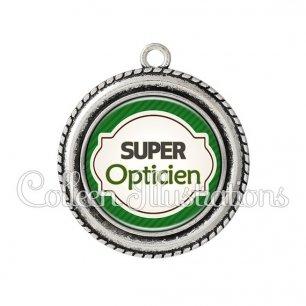 Pendentif résine Super opticien (011VER01)