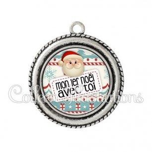 Pendentif résine Mon 1er Noël avec toi (003MUL06)