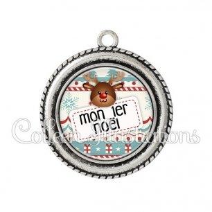 Pendentif résine Mon 1er Noël (003MUL07)