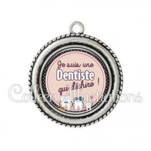 Pendentif résine Dentiste qui déchire (012MAR01)