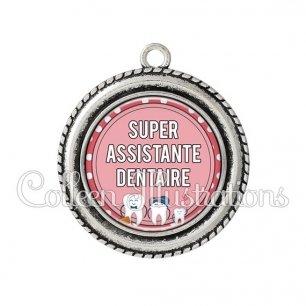 Pendentif résine Assistante dentaire (012ROS01)