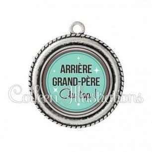Pendentif résine Arrière grand-père au top (012VER01)