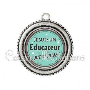Pendentif résine Educateur qui déchire (012VER01)