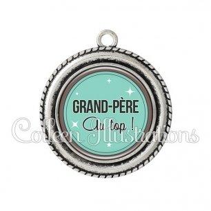 Pendentif résine Grand-père au top (012VER01)
