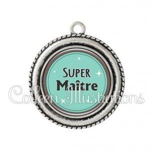 Pendentif résine Super maître (012VER01)