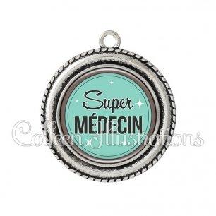 Pendentif résine Super médecin (012VER01)