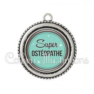 Pendentif résine Super Ostéopathe (012VER01)
