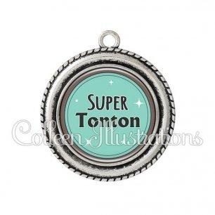 Pendentif résine Super tonton (012VER01)