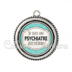Pendentif résine Psychiatre qui déchire (013BLE04)