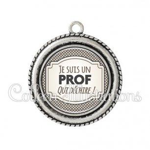 Pendentif résine Prof qui déchire (013GRI01)