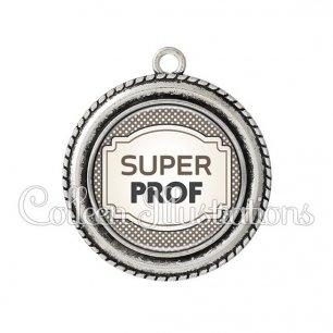 Pendentif résine Super prof (013GRI01)