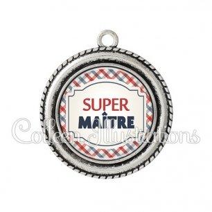 Pendentif résine Super maître (013MUL01)