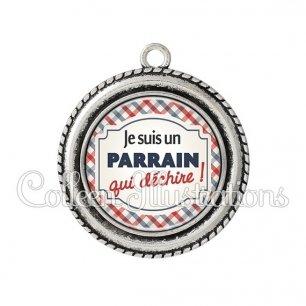 Pendentif résine Parrain qui déchire (013MUL01)