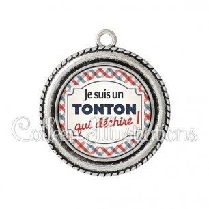 Pendentif résine Tonton qui déchire (013MUL01)