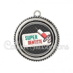 Pendentif résine Super dentiste (003NOI05)