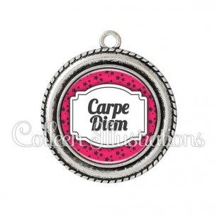 Pendentif résine Carpe diem (013ROS02)