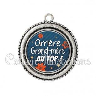 Pendentif résine Arrière grand-mère au top (014BLE01)
