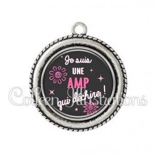 Pendentif résine AMP qui déchire (014GRI01)