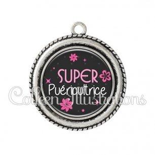 Pendentif résine Super puéricultrice (014GRI02)