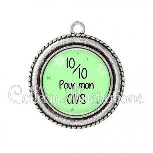 Pendentif résine 10 sur 10 pour mon AVS (014VER01)