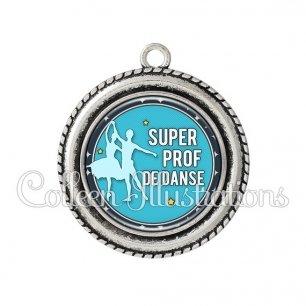 Pendentif résine Super prof de danse (016BLE05)