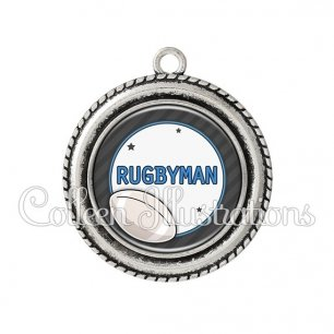Pendentif résine Rugbyman (016GRI05)