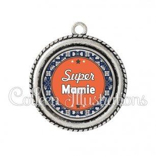 Pendentif résine Super mamie (016MUL02)