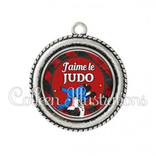 Pendentif résine J'aime le judo (016MUL13)