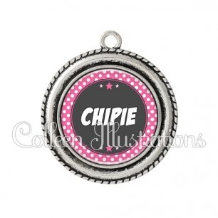 Pendentif résine Chipie (016ROS01)