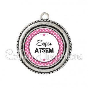 Pendentif résine Super ATSEM (016ROS09)