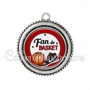 Pendentif résine Fan de basket (016ROU04)