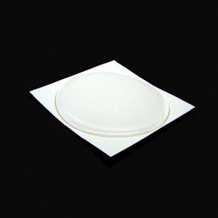 Cabochon sticker 57mm rond transparent autocollant en résine epoxy