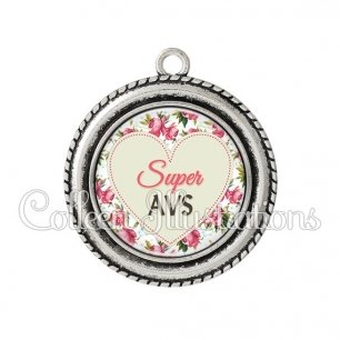 Pendentif résine Super AVS (015MUL02)
