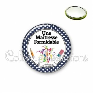 Miroir 56mm Une maîtresse formidable (001BLE03)