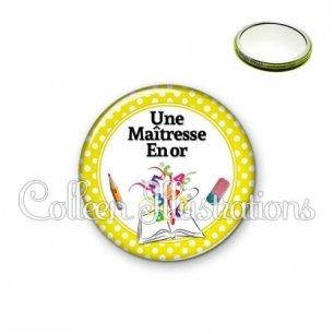 Miroir 56mm Maîtresse en or (001JAU03)