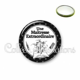 Miroir 56mm Maîtresse extraordinaire (001NOI02)