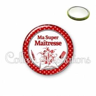 Miroir 56mm Ma super maîtresse (001ROU02)