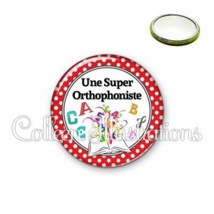 Miroir 56mm Une super orthophoniste (001ROU03)